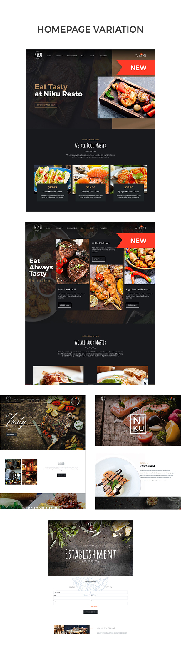 Niku - Restaurant & Food Menus WooCommerce Theme - 2