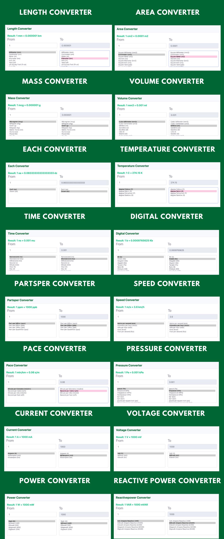 Online Unit Converter PRO Tools Full Production Ready Application (Angular 11) - 2