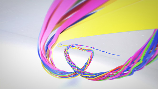 Colorful Ribbon Logo Reveal - 3