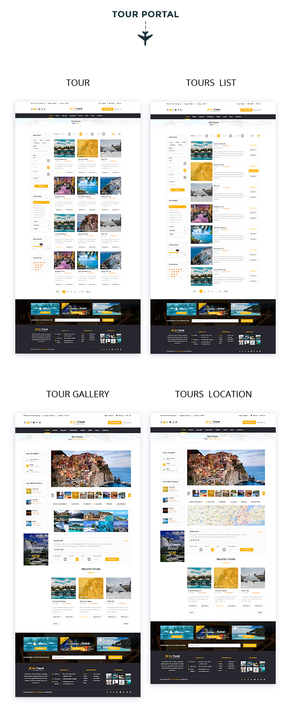 Travel PSD Template - 6