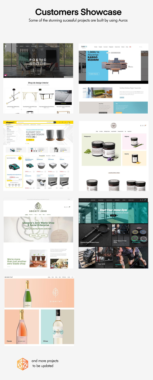 Beautiful sites built on Auros Furniture WordPress Theme