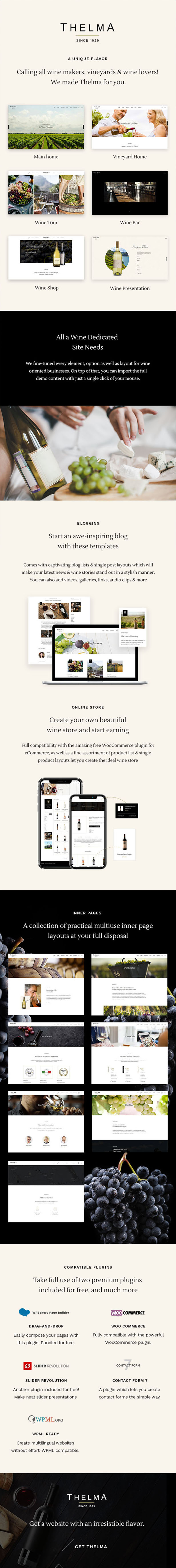Thelma - Wine and Winery WordPress Theme - 1