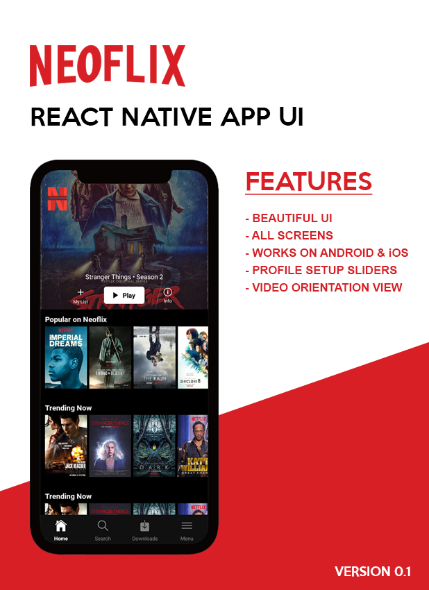 Neoflix React Native Theme