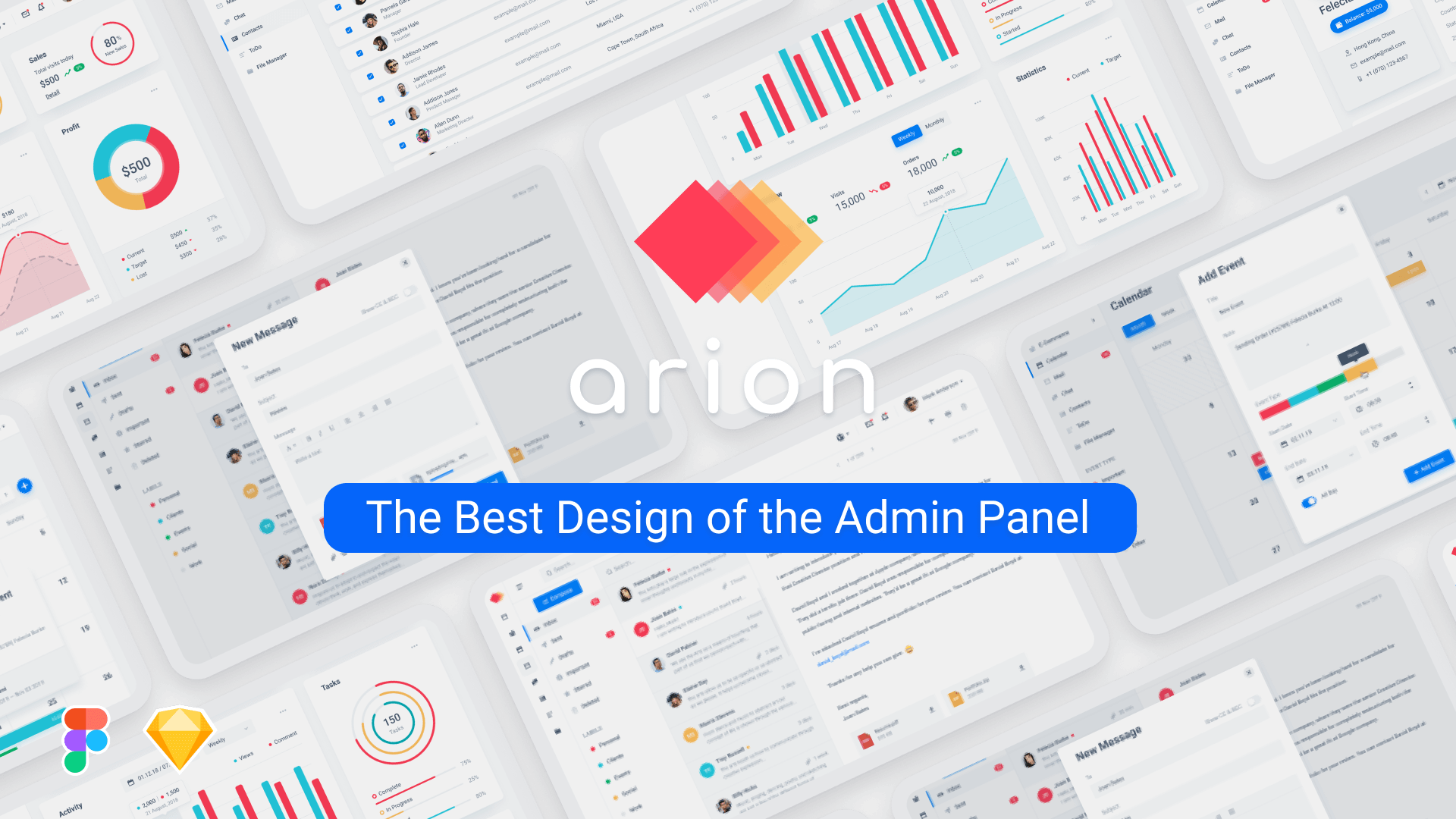 Arion – Admin Dashboard & UI Kit Sketch Template