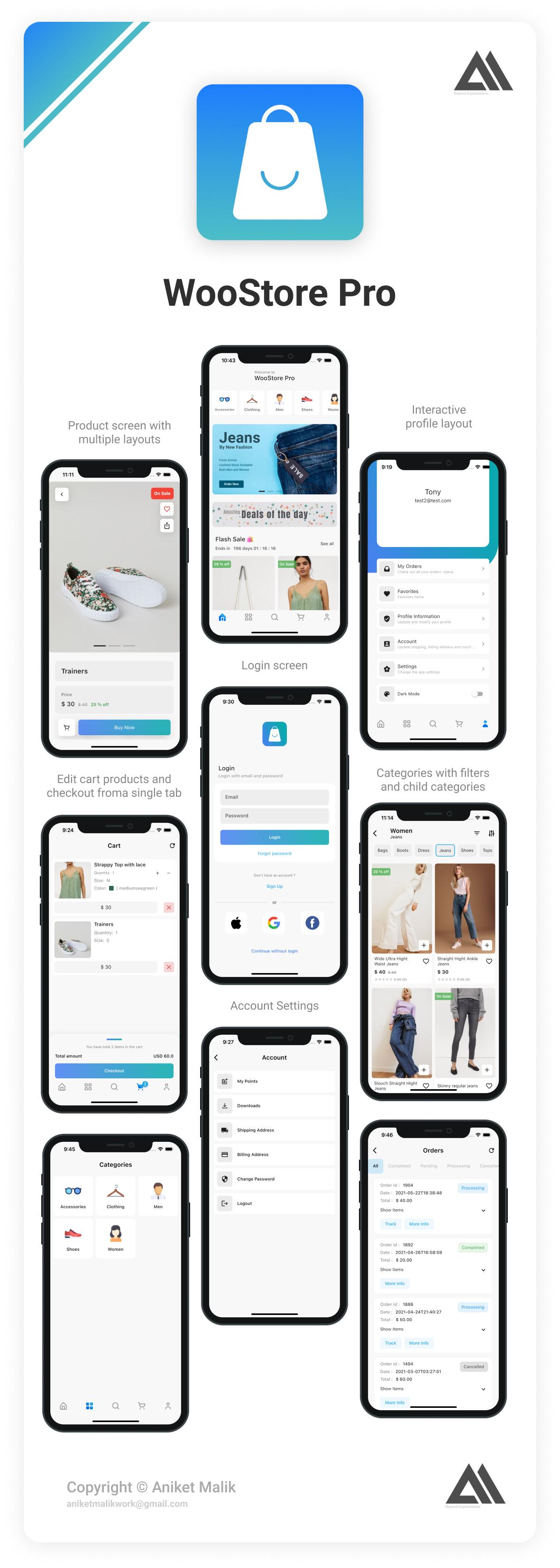 WooStore Pro WooCommerce v1.14.0 Full Flutter E-Commerce App