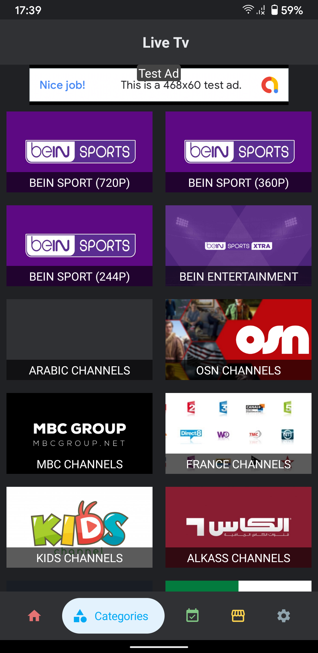 Live Tv Streaming App without Hosting (Admob, Firebase) - 3