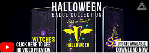 Halloween IGTV / Halloween Badge Collection Pack_2018