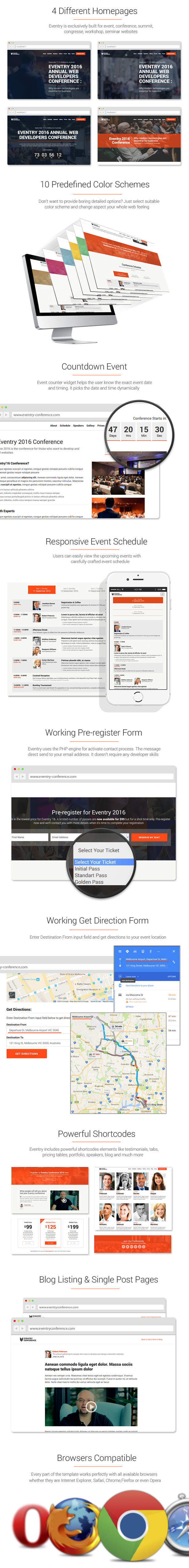 Eventry - Conference & Event HTML5 Landing Page Template