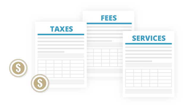 Charge Taxes and Fees