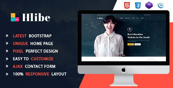Hlibe    Education HTML5 Template