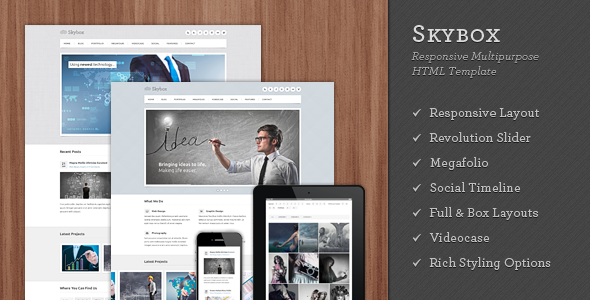 Skybox - Responsive Multipurpose WordPress Theme - 6
