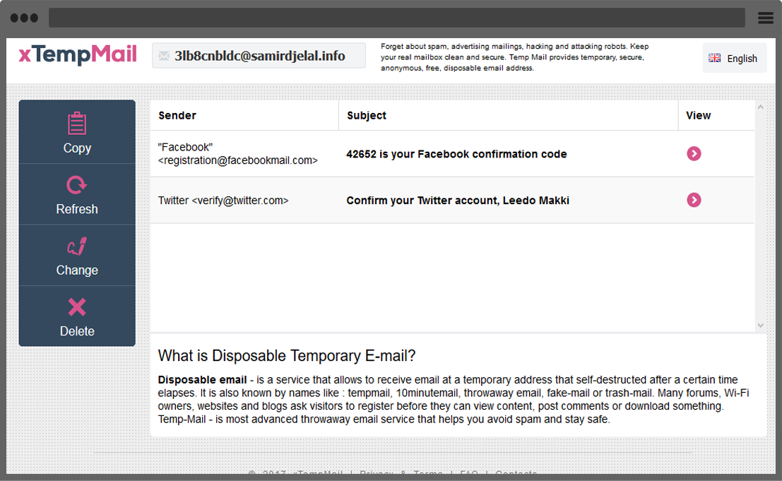 xTempMail - Temporary, Disposable Mail