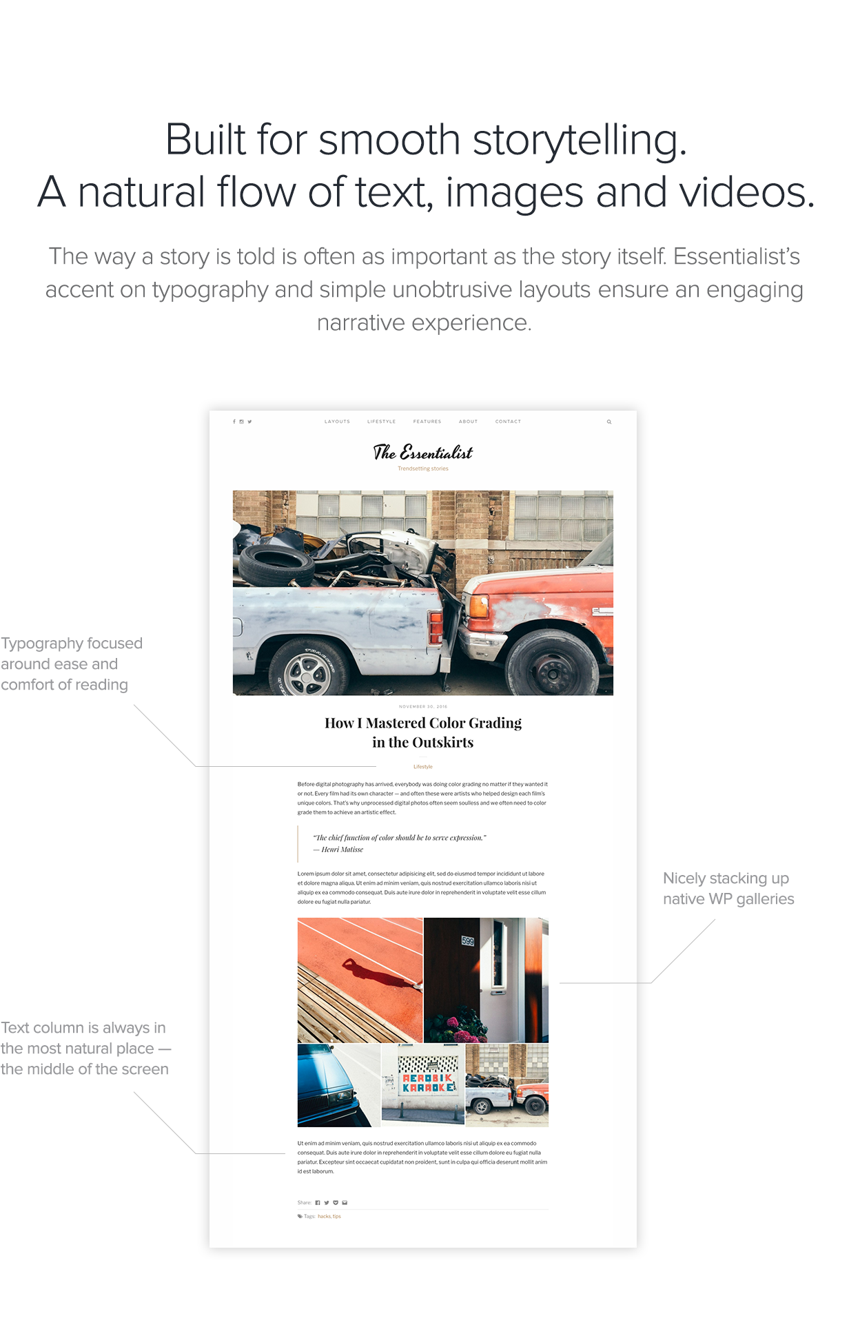 Essentialist — A Narrative WordPress Blog Theme - 2