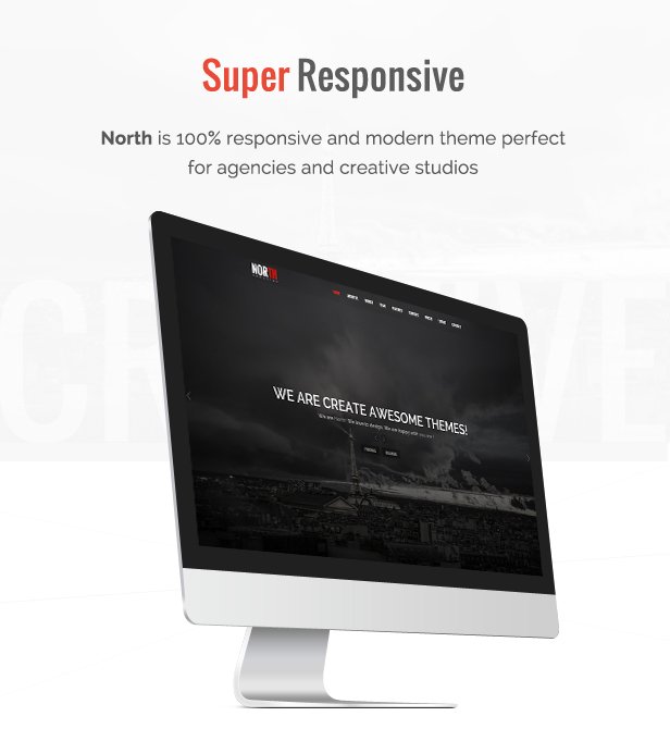North - One Page Parallax WordPress Theme - 3