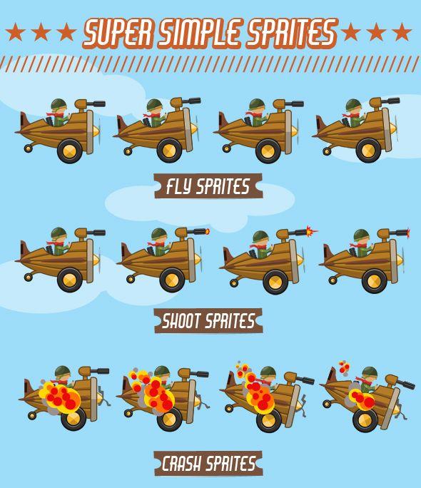SteamPunk Airplane Sprite - 1