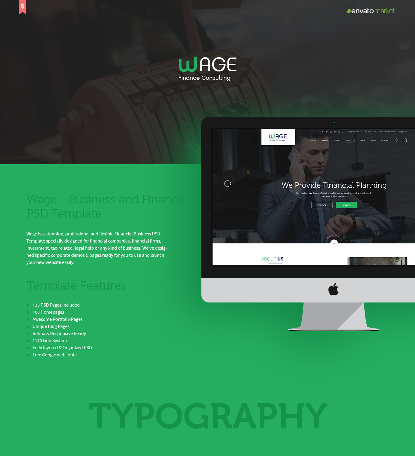 Wage - Business and Finance WordPress Theme - 10
