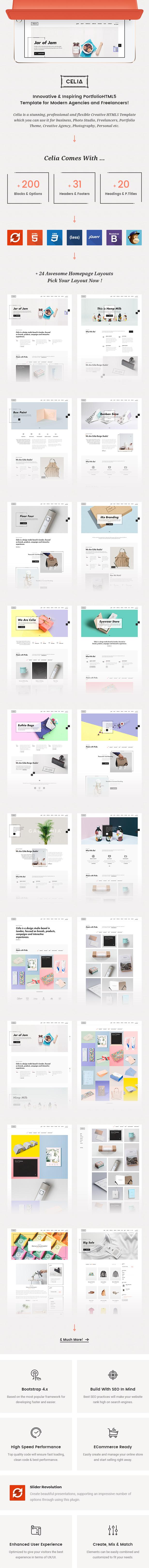 Celia - Innovative and Inspiring Portfolio HTML5 Template for Modern Agencies and Freelancers - 2