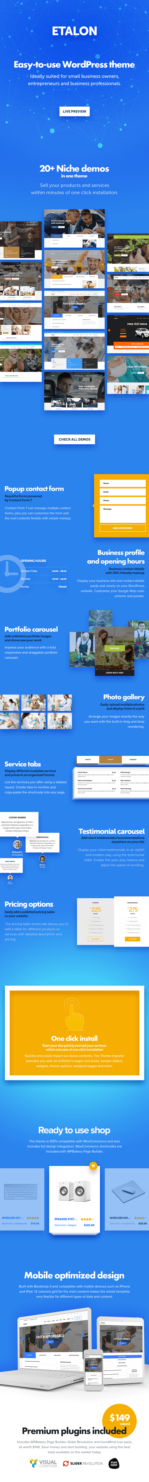 Etalon - Multi-Concept Theme for Professional Services - 1