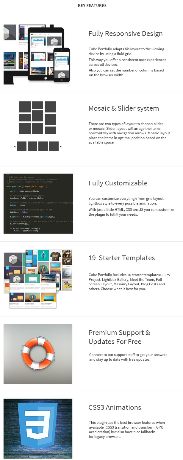 Jquery plugins to work with data presentation and grid layout - What Customers Say