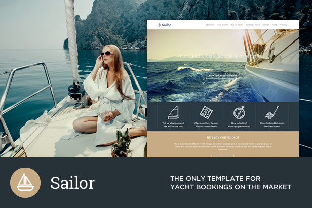 Sailor - Yacht Charter Booking HTML Template