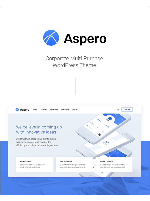 Aspero - Business WordPress Theme