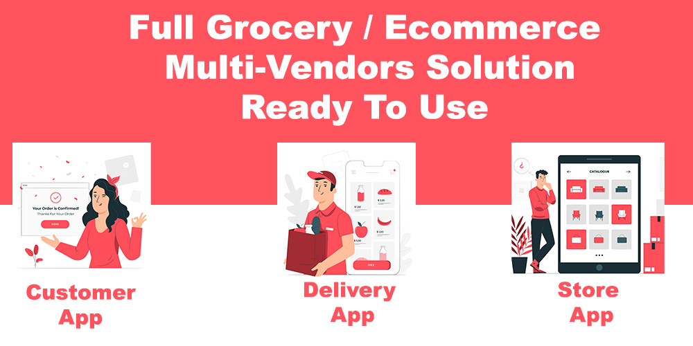 grocery / delivery services / ecommerce multi vendors(Android + iOS + Website) ionic 5 / CodeIgniter - 8