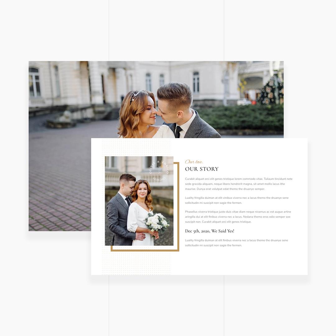 Olivia & Enrico - Wedding Template