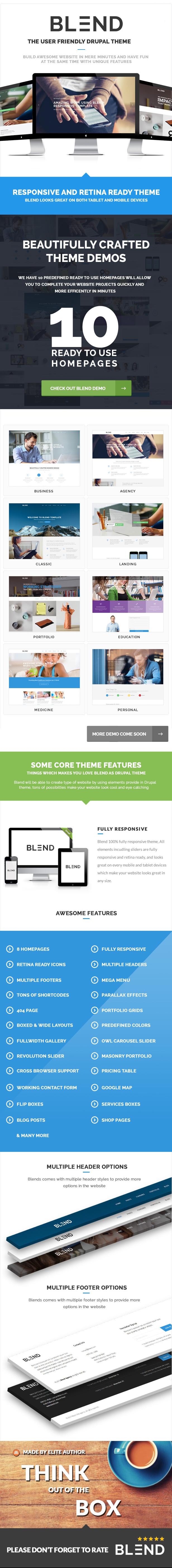 Blend - Multi-Purpose Responsive Drupal 8 Theme