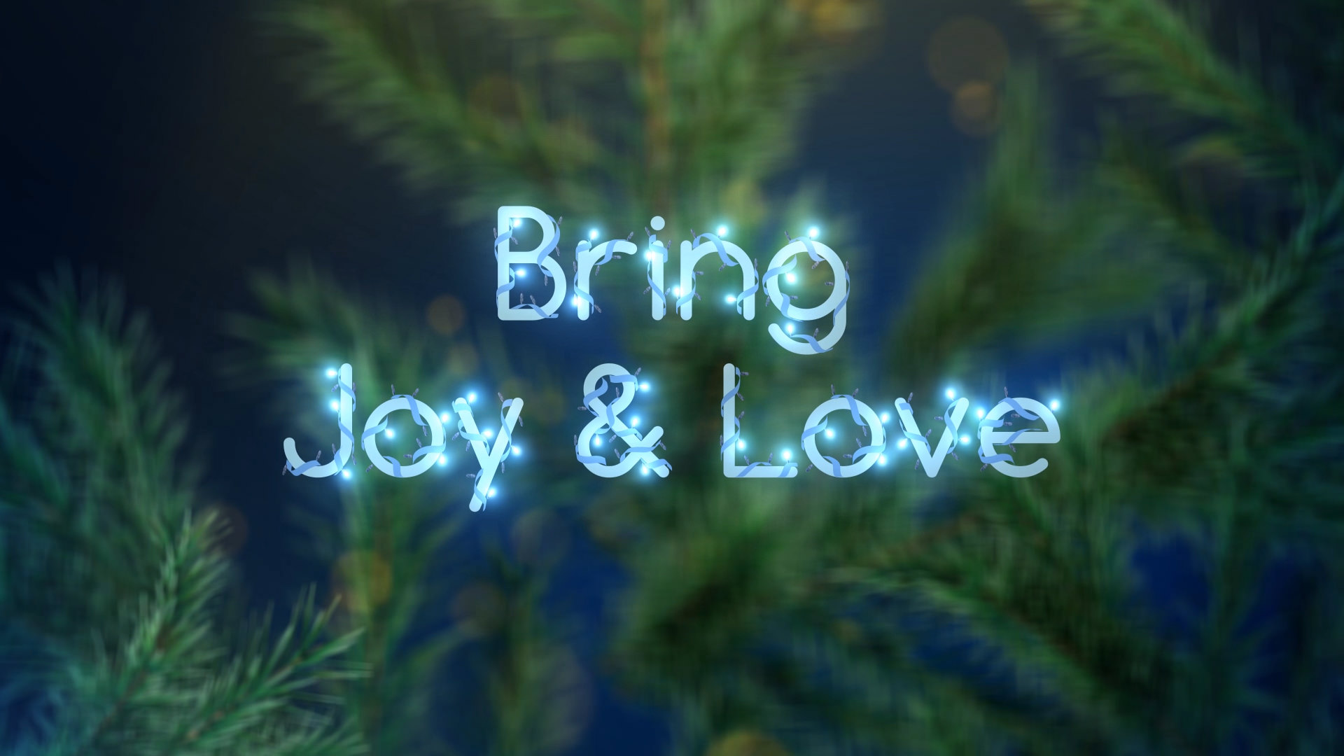 Christmas Lights Font by fastfoot | VideoHive