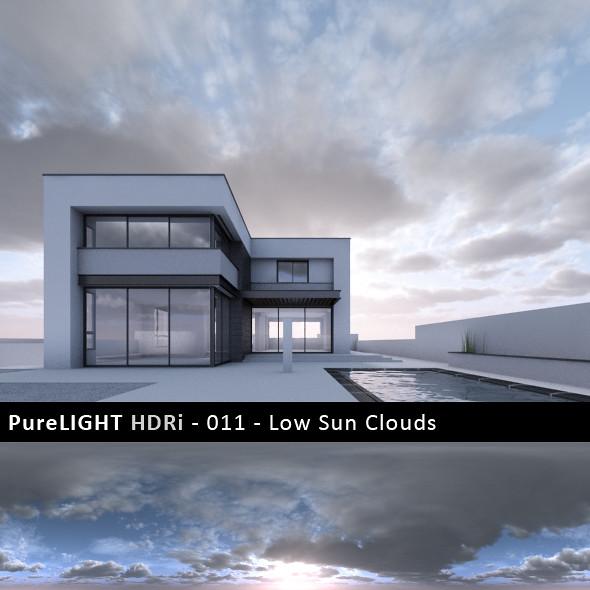 PureLIGHT HDRi 011 - Low Sun Clouds