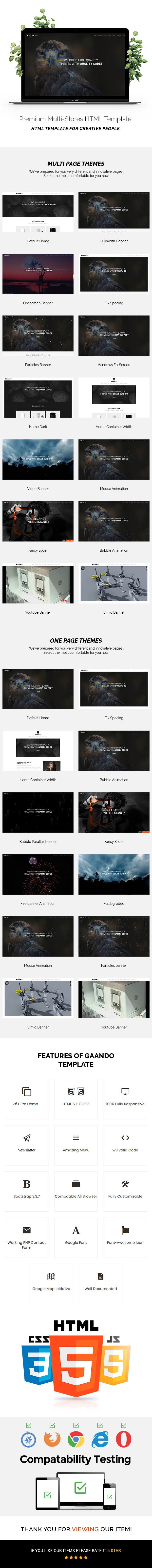 Gaando - Responsive Portfolio And Multipurpose HTML Template - 1