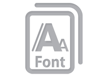 Annuity template - Icon fonts