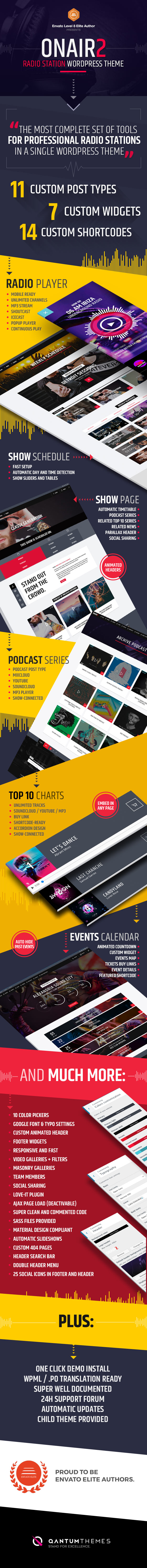 Onair2: Radio Station WordPress Theme