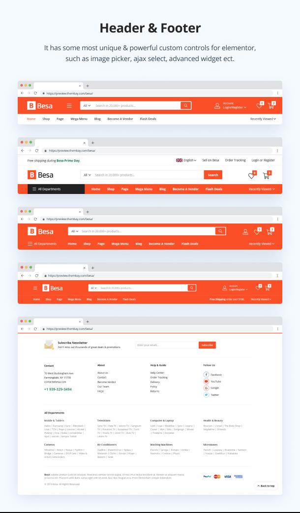 Besa - Elementor Marketplace WooCommerce Theme - 11