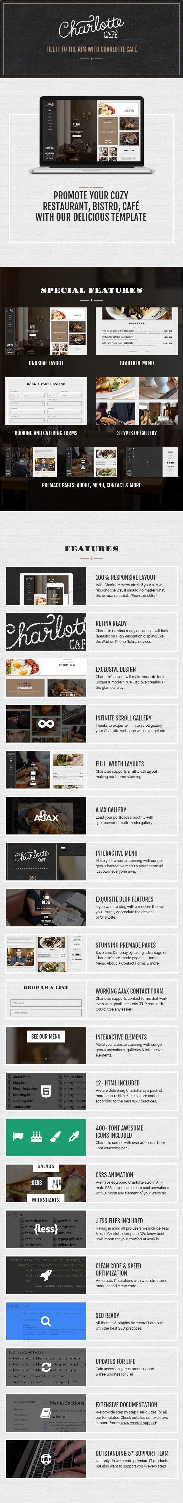 Charlotte - Café Bistro HTML Template - 8