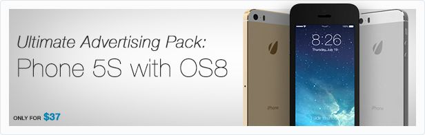 Animill - Ultimate Advertising Pack: iPhone 5S with iOS8