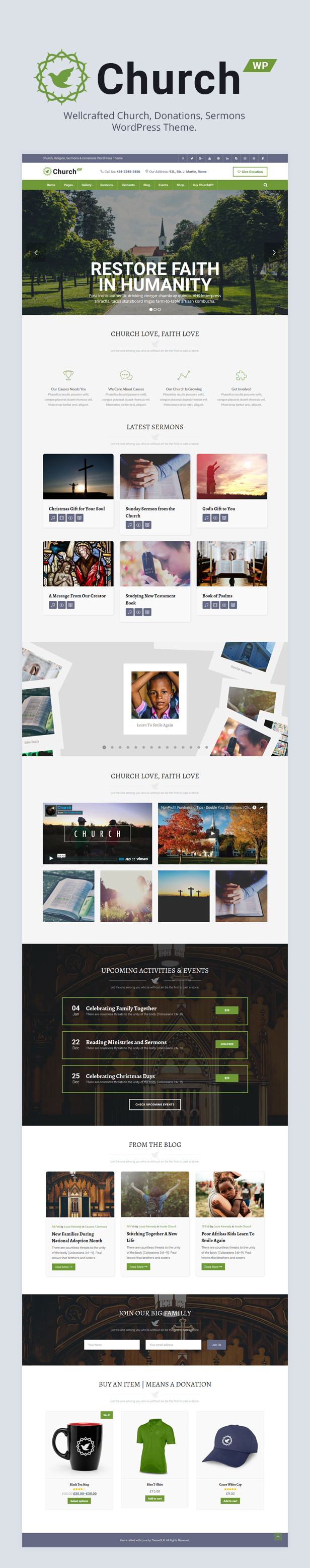 ChurchWP - A Contemporary WordPress Theme for Churches - 3