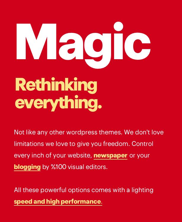 Magic — Creative Magazine for WordPress