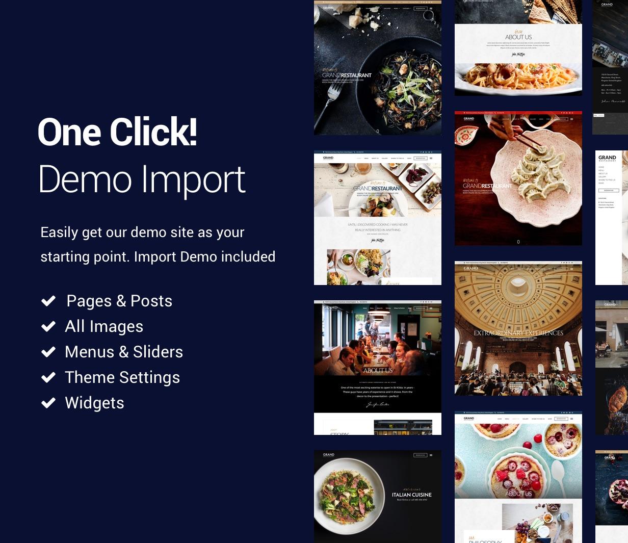 Grand Restaurant WordPress by ThemeGoods | ThemeForest