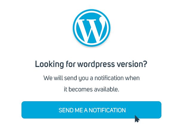 get notification wordpress version