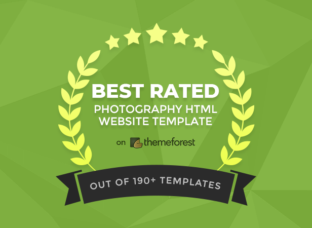 Best Rated Photography HTML Website Template on Themeforest