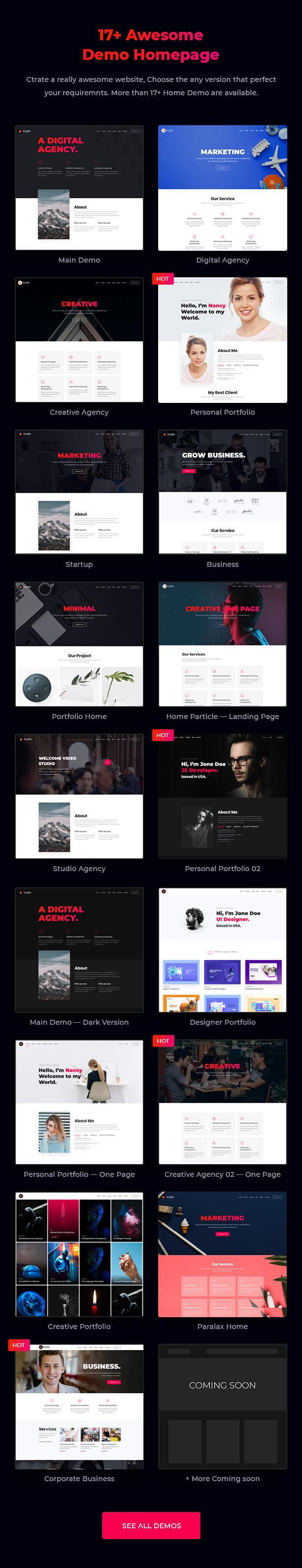 Trydo v1.0.0-Creative Agency&Portfolio WordPress主题插图16