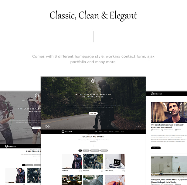 Cizarua - Responsive One Page Portfolio Theme - 1