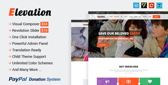 ELEVATION - Charity/Nonprofit/Fundraising WP Theme