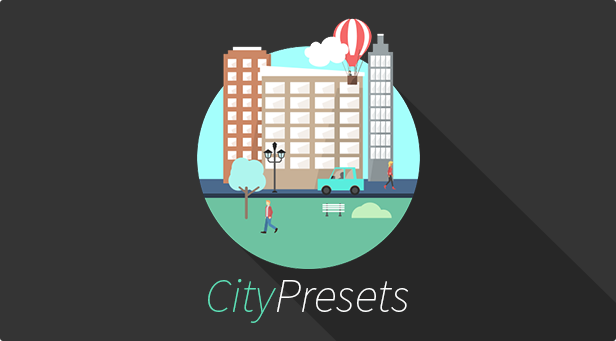 Flat city preset for Adobe After Effects