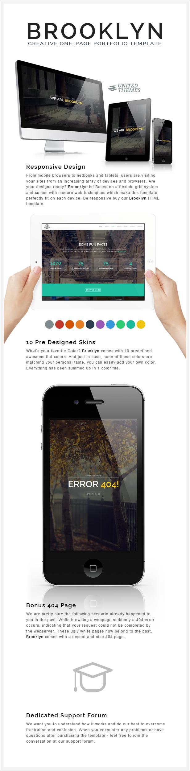 Brooklyn - Creative Portfolio Page HTML by UnitedThemes   ThemeForest