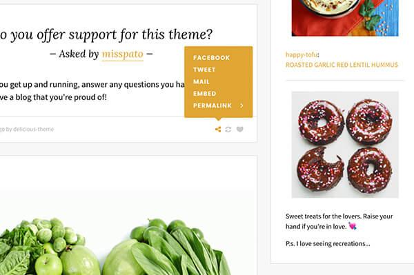 Delicious Tumblr Theme - 7