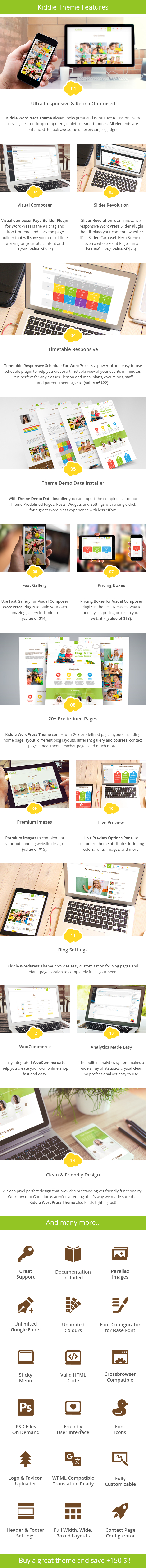 Kiddie - Kindergarten and Preschool WordPress Theme