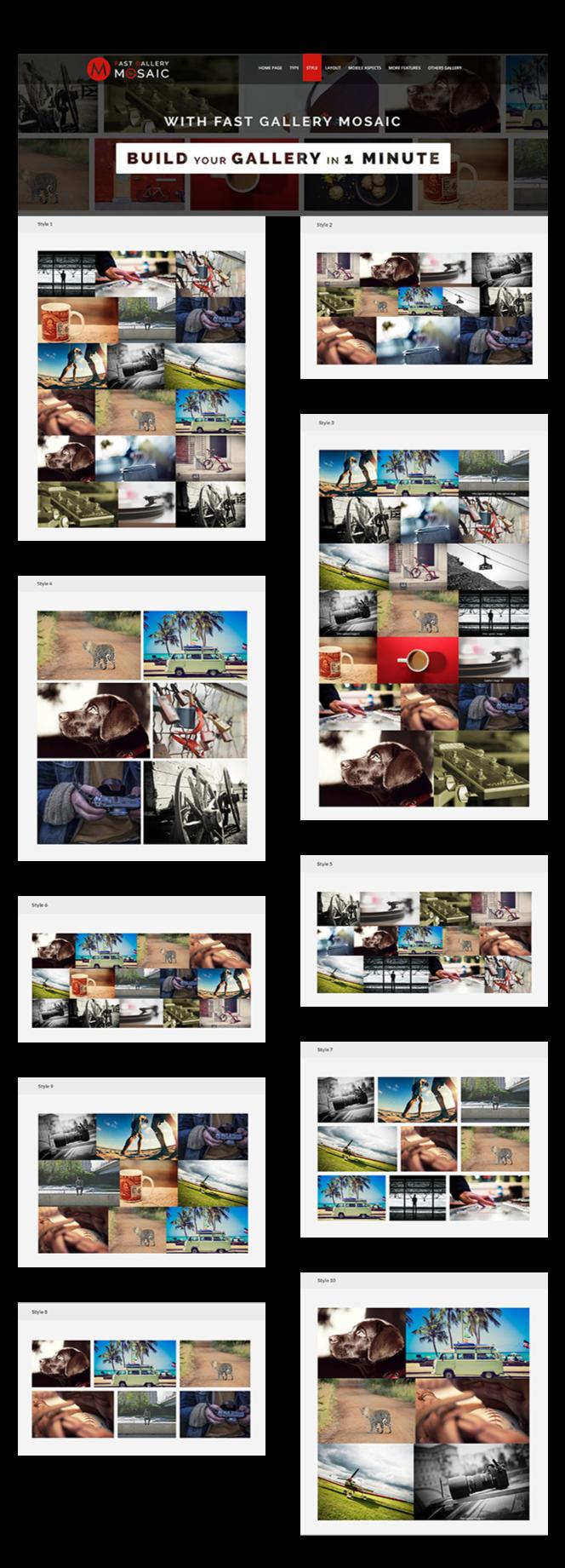 Fast Gallery Mosaic - WordPress Plugin - 3