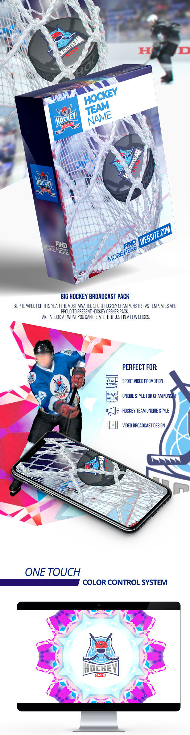 Hockey Logo Championship Big Pack - Project for After Effects (Videohive)